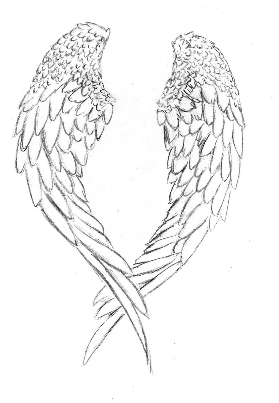 free angel wings coloring pages - photo#7