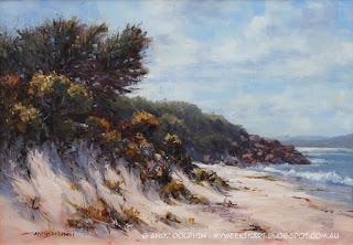 Misery Beach, Albany. Seascape in oil by Andy Dolphin