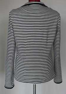 Cotton striped blazer
