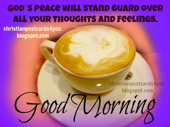 Good Morning with God's peace
