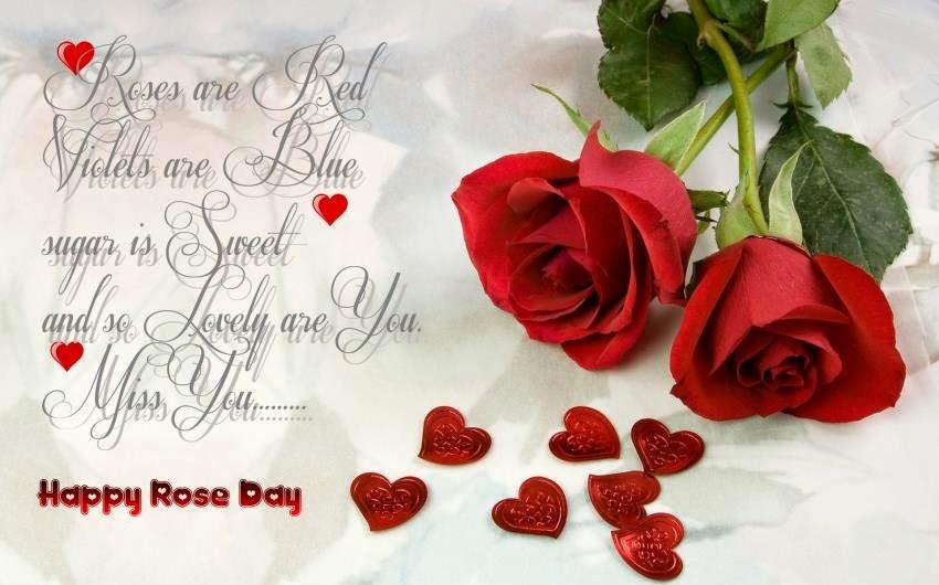 Rose Tag 2015 Wünsche Für Facebook | Valentinstag 2015 Karte Rosen Sms,  Rose Day Geschenk