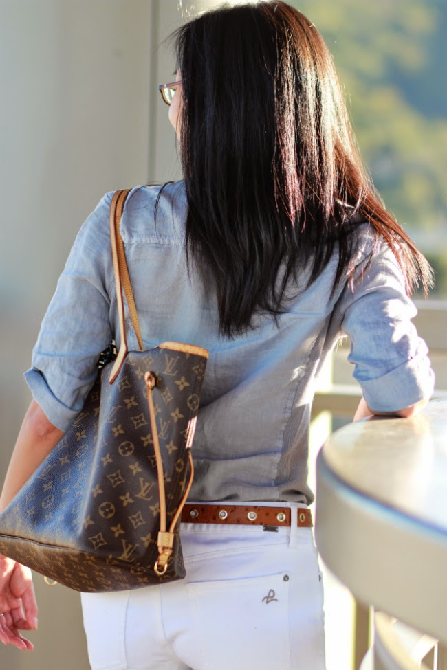 louis vuitton lv neverfull mm monogram tote bag handbag