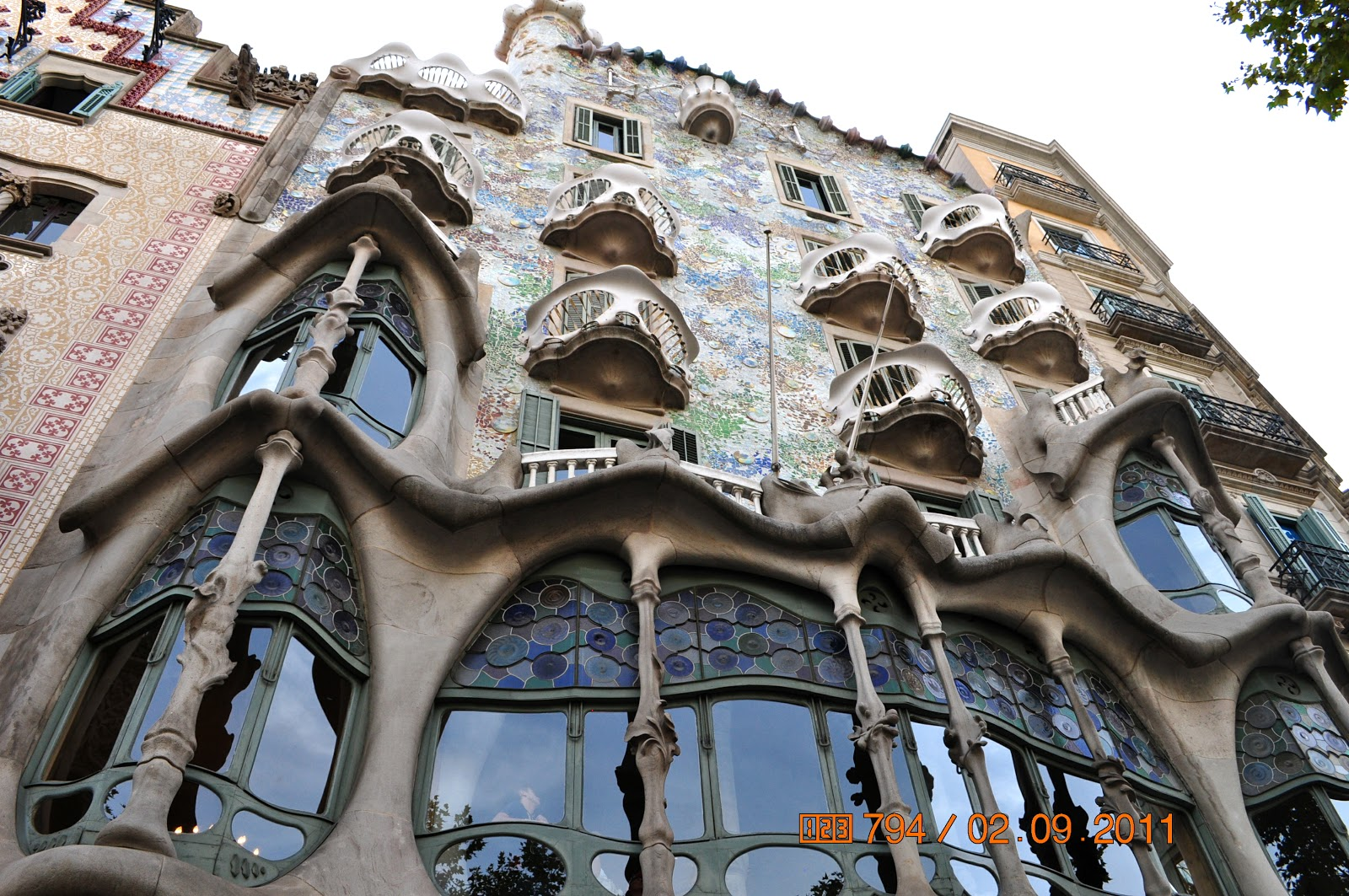 lotus reads barcelona sep 2011 gaudi 39 s casa batllo. Black Bedroom Furniture Sets. Home Design Ideas