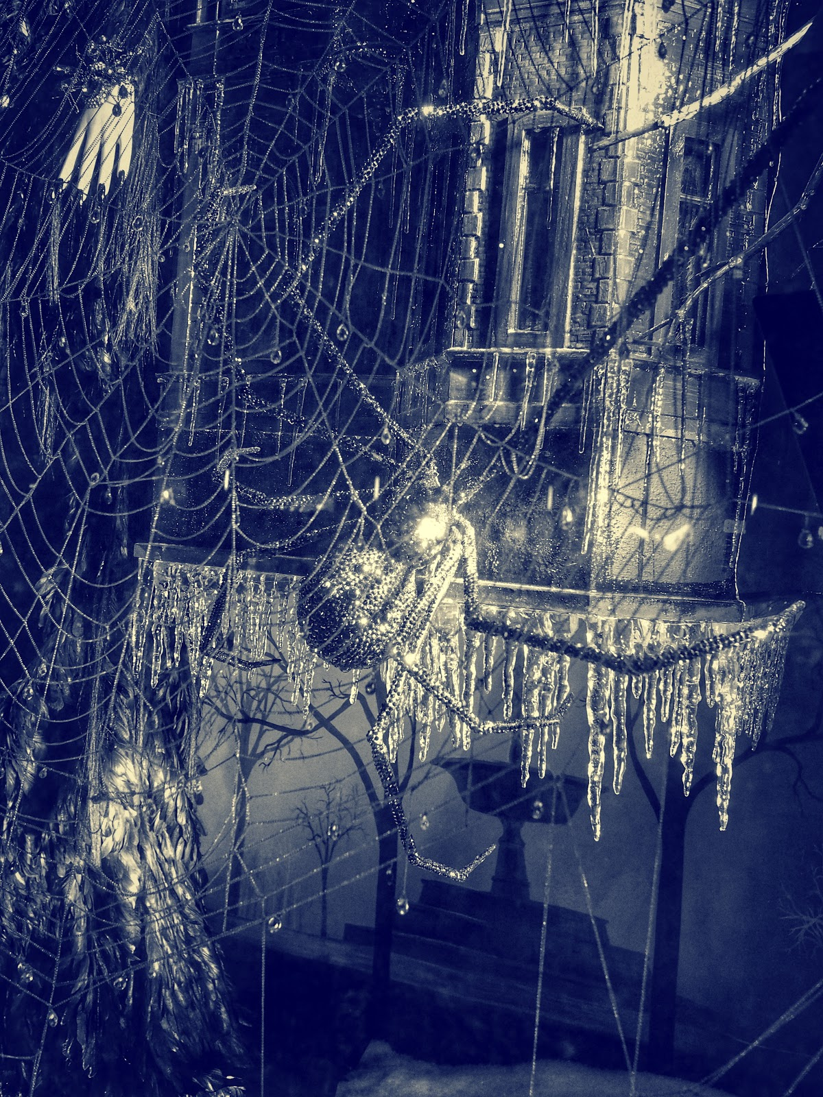 Step into My Parlor, #stepintomyparlor #Halloween #spider #holidaysonice #bgwindows #nyc #bergdorf #nyc 2014
