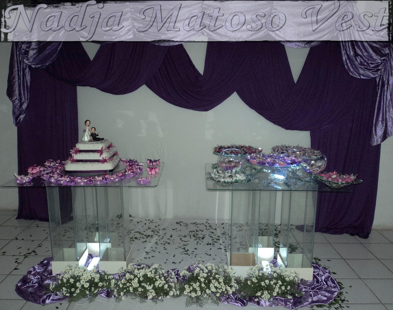 decoracao branco e lilas para casamento: DECORAÇÃO DE CASAMENTO NAS CORES ROXO LILÁS E BRANCO roxo e branco