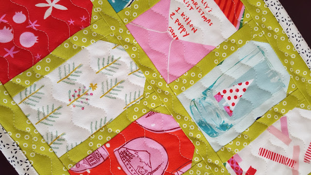 Tinsel Gift Tag Runner by Heidi Staples for Fabric Mutt