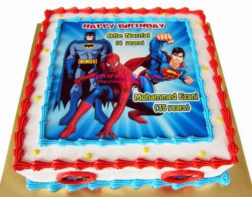 Birthday Cake Edible Image Superhero Aisha Puchong Jaya