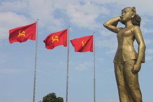 Statue of Võ Thị Sáu heroine in Đất Đỏ town