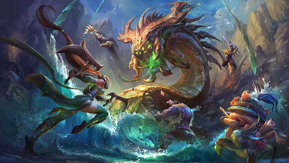 baron vs akali teemo dr mundo nocturne jarvan league of legends hd wallpaper