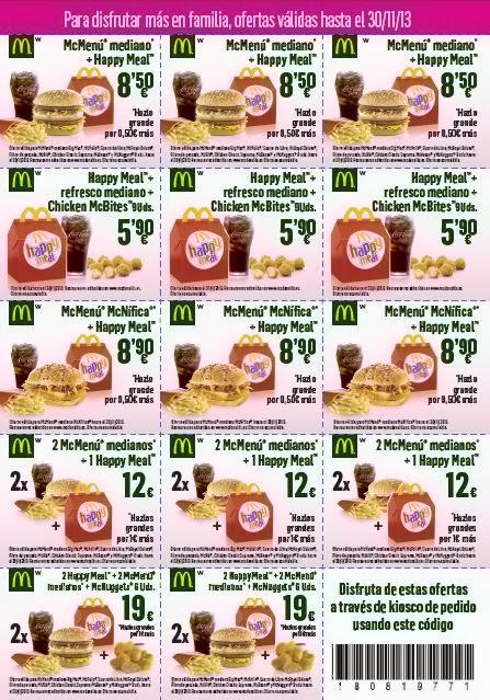 Cupones descuento McDonald's