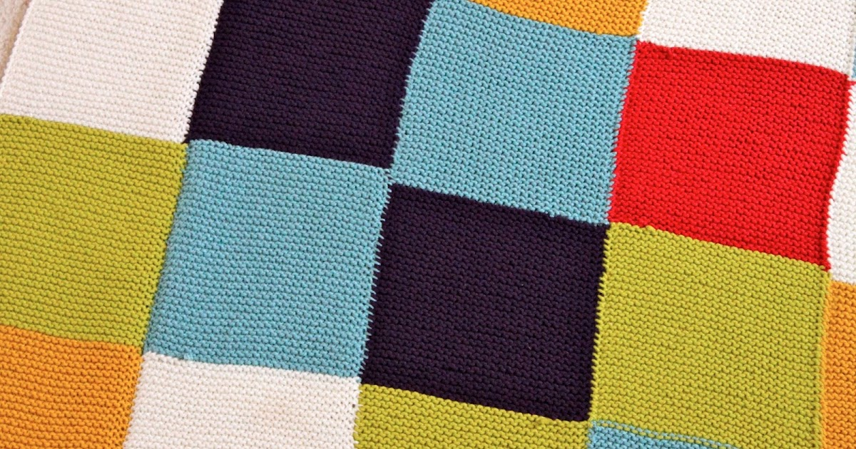 Checkerboard Knitting Pattern Blanket : adventuruss: a checkered knit blanket.