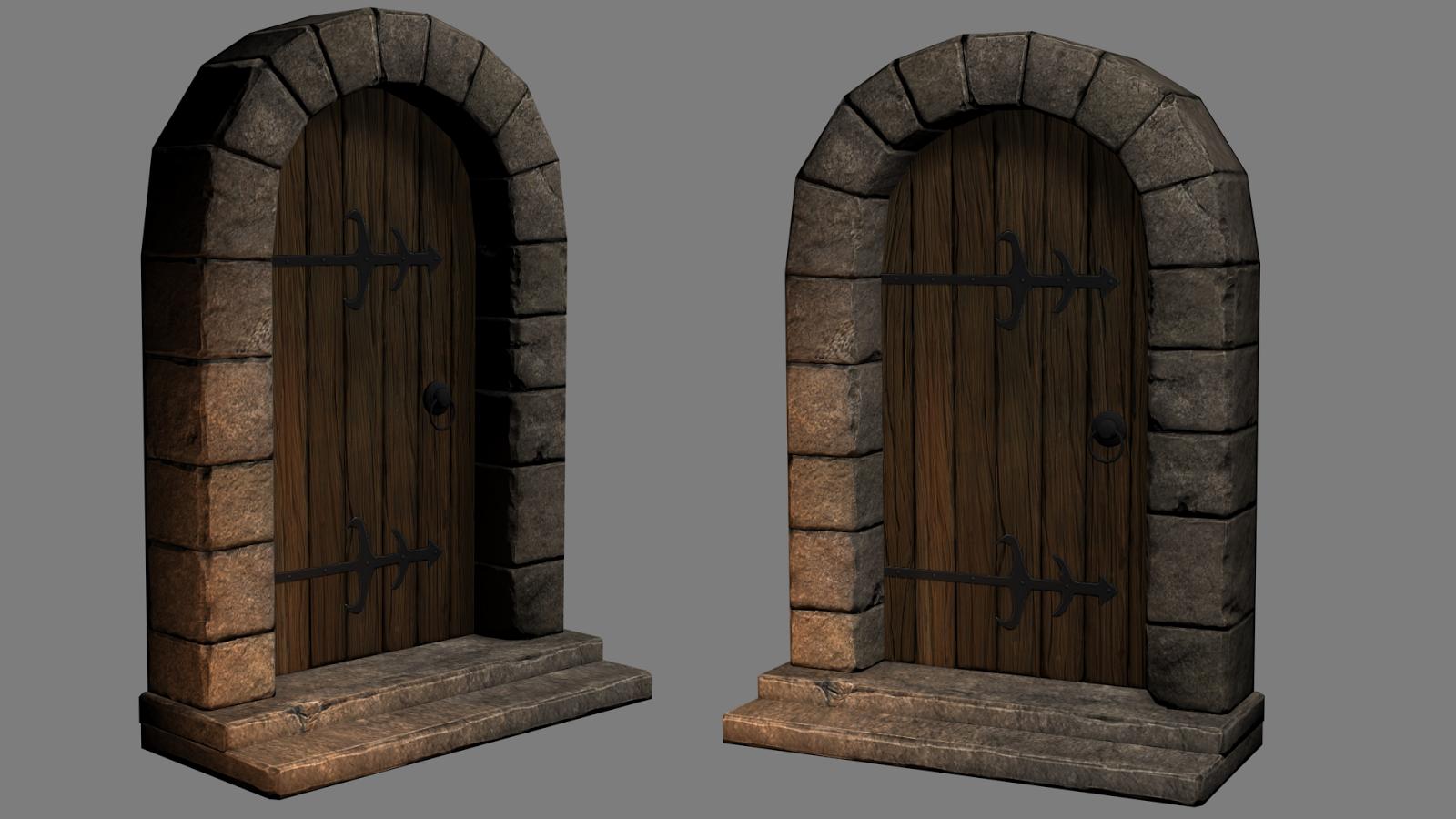 door_4.png & medieval door \u2014 polycount
