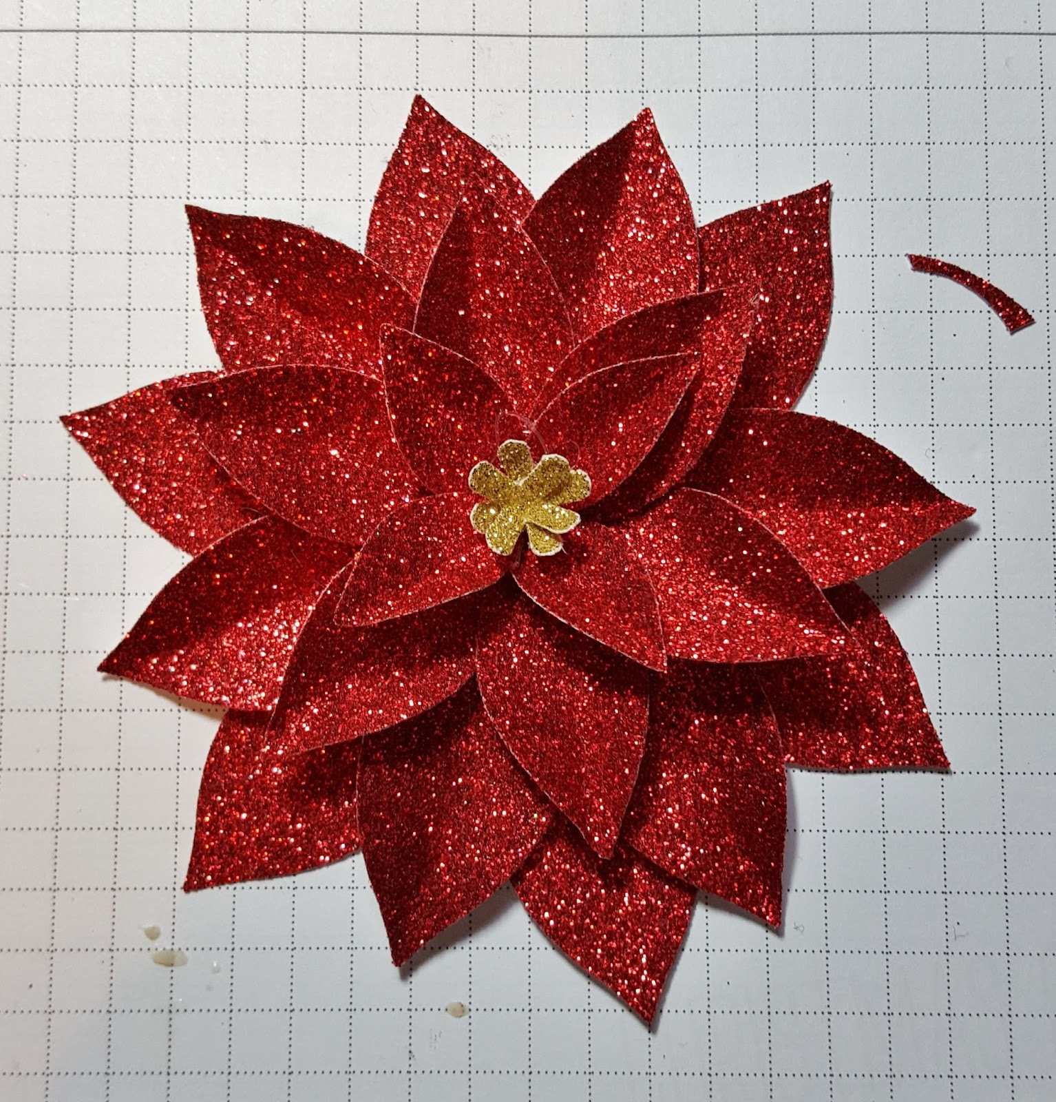 Beths Paper Cuts Poinsettia From The Festive Flower Builder Punch