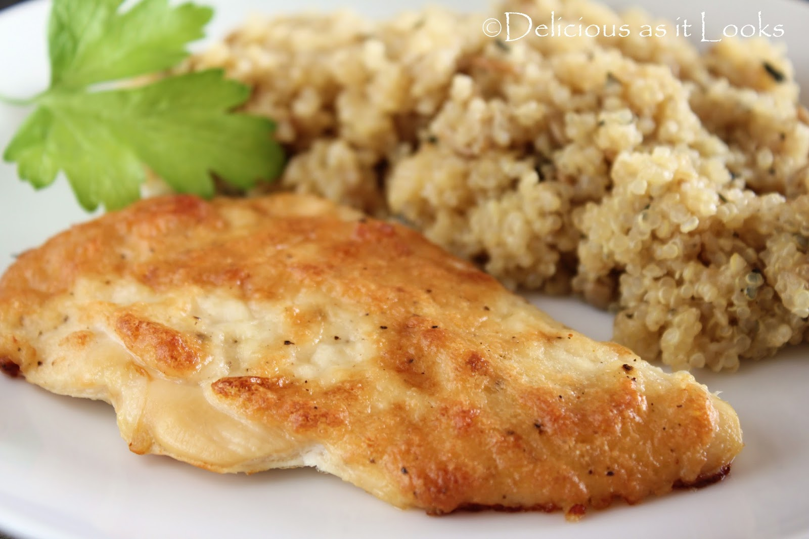 Delicious as it Looks: Low-FODMAP Creamy Parmesan Chicken