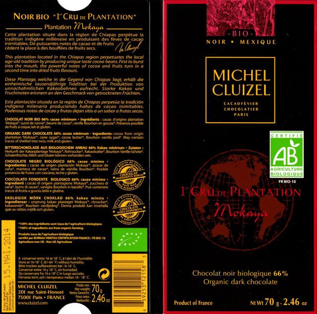 tablette de chocolat noir dégustation michel cluizel noir 1er cru de plantation mokaya