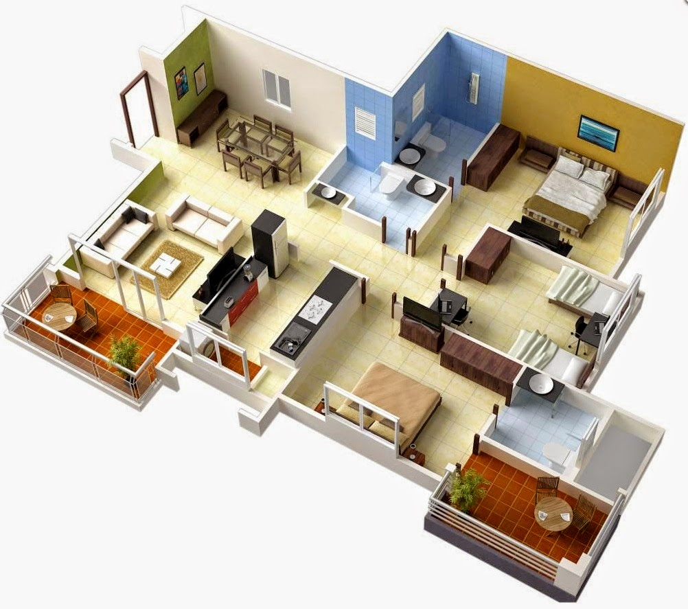 Modern Three Bedroom House Plans 50 Efficient And Spacious House Plans Civil Engineering Seminars