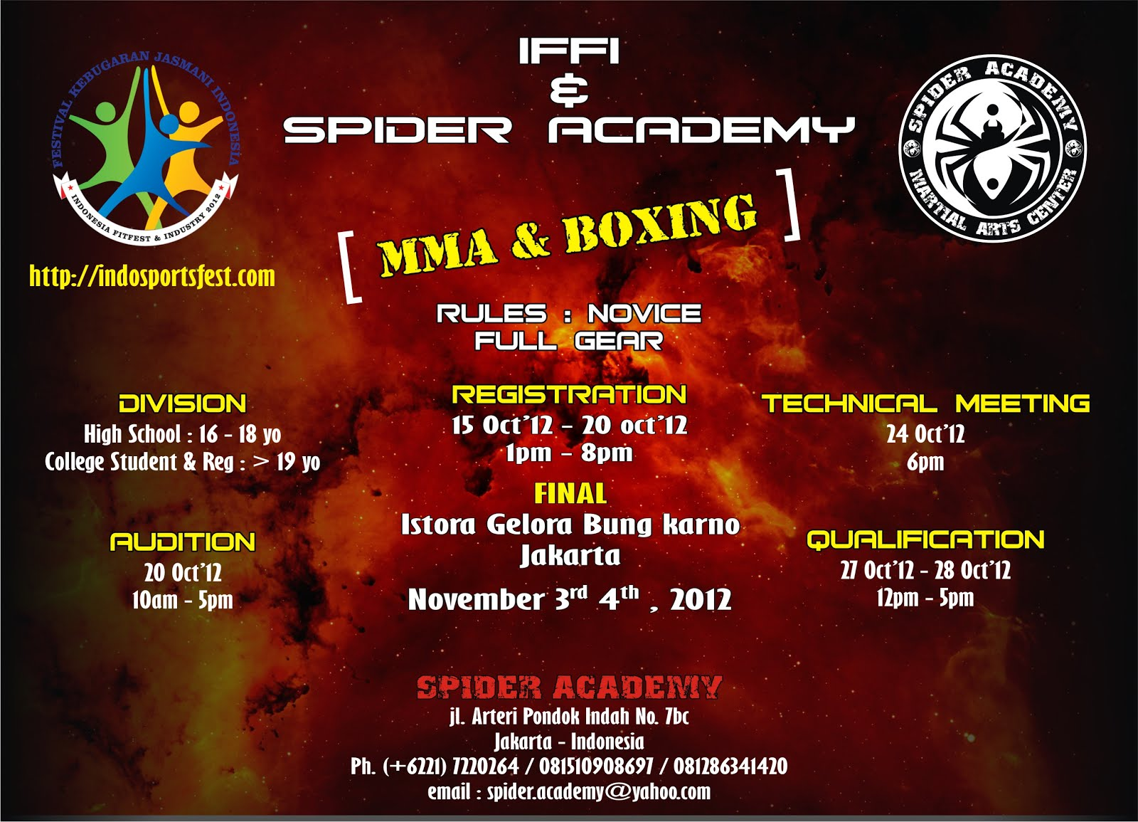 BOXING & MMA TOURNAMENT 2012