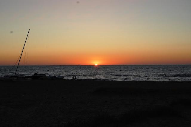 Puesta de sol en Sanlúcar