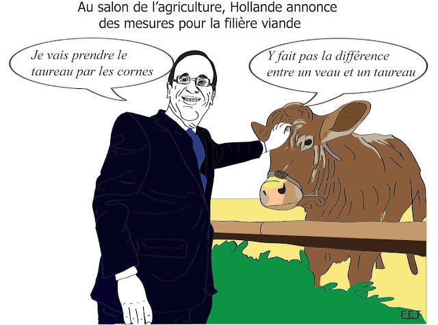 Hollande-au salon-de-l'agriculture-fej-dessin