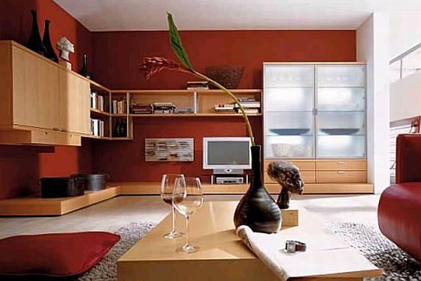 Red living room color scheme