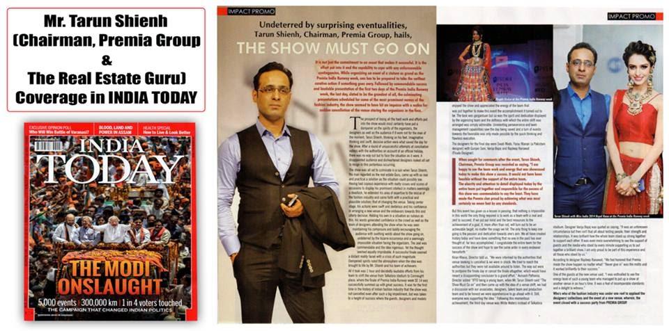 Tarun Shienh Coverage in INDIA TODAY Magazine