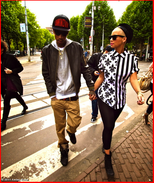 amber rose and wiz khalifa in paris. Spotted: Amber Rose amp; Wiz