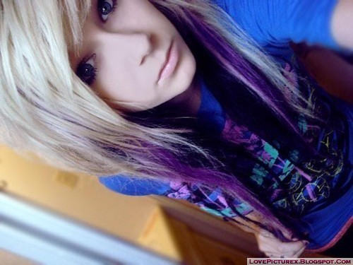cute emo girl blonde fashion