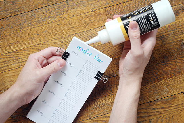How to make a grocery list notepad