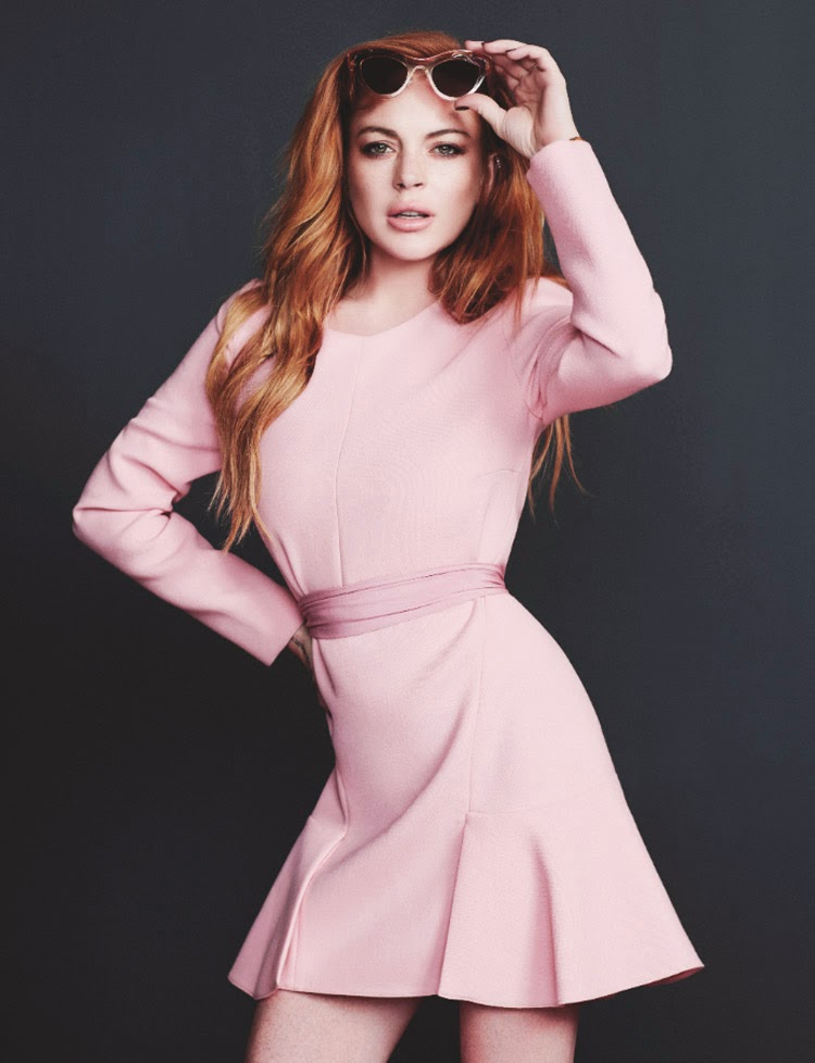 Lindsay Lohan goes sultry for the Wonderland Magazine cover shoot