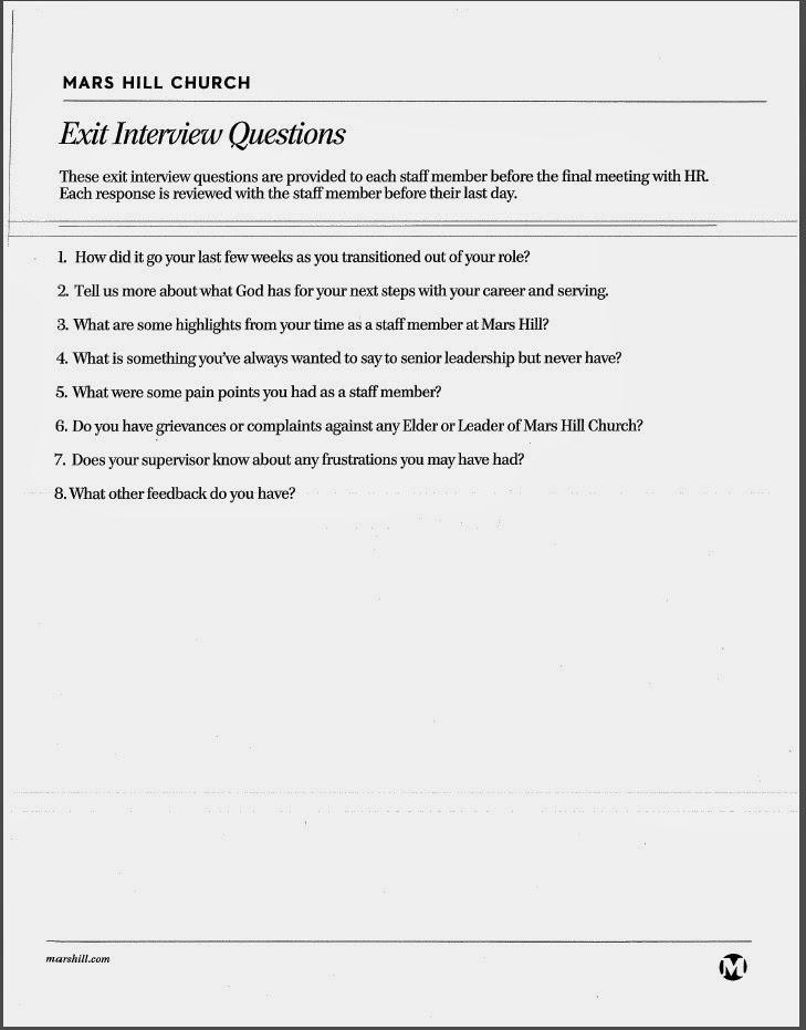 exit interview letter