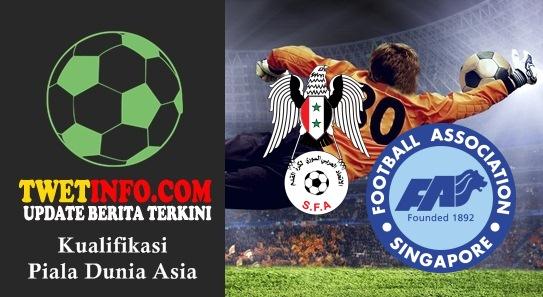 Prediksi Syria vs Singapore, Piala Dunia Asia 03-09-2015