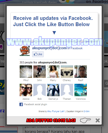 Cara Pasang Like Facebook Cara Pasang Pop up Facebook