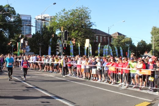 The second wave of runners waiting to start the City2Sea