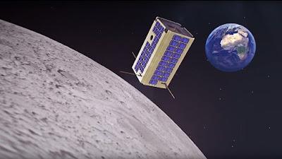 """Un disegno del """"microsatellite"""" che vogliono costruire i ricercatori russi"""