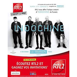 Concierto de Indochine en el Trianon el 09 diciembre 2015