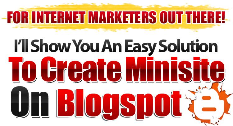 minisite blogspot template