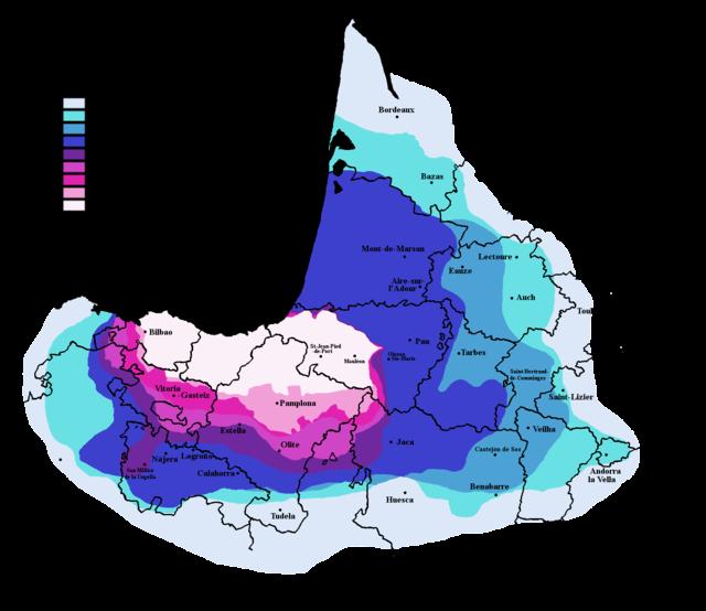 Euskera Mapa siglos