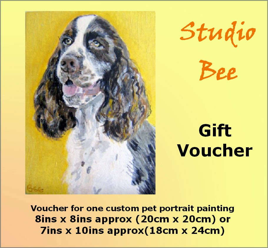 pet portrait, custom painting, painting from photo, gift certificate,