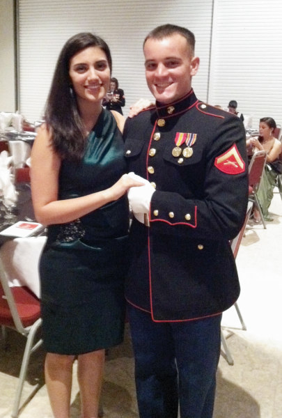 Tyler and Kelli are attending the Marine Corps Birthday Ball as I type