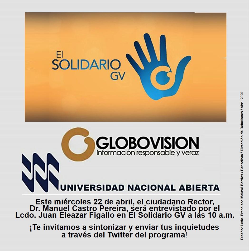 Entrevista del Dr. Manuel Castro Pereira en Globovisión