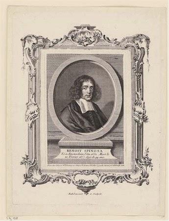 gravure van Spinoza door Etienne Fessard (1714-1777) voor L'Europe illustré van Jean-François Dreux du Radier (1714 - 1780)