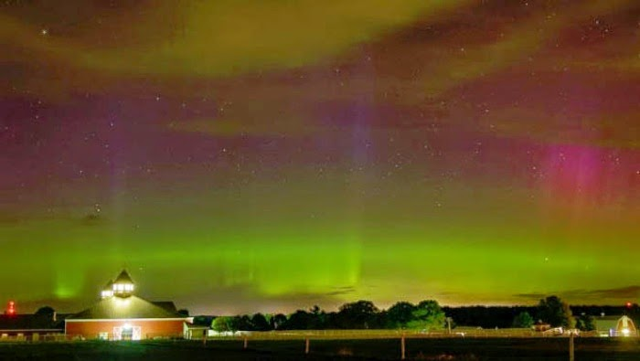 Espectaculares auroras boreales en América del Norte, 13 de Septiembre 2014