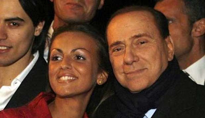Silvio Berlusconi and Francesca Pascale, his official girlfriend
