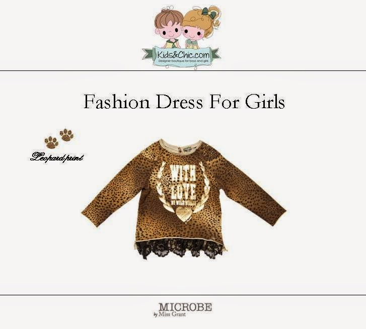 Animal print dress for girls from Microbe by Miss Grant