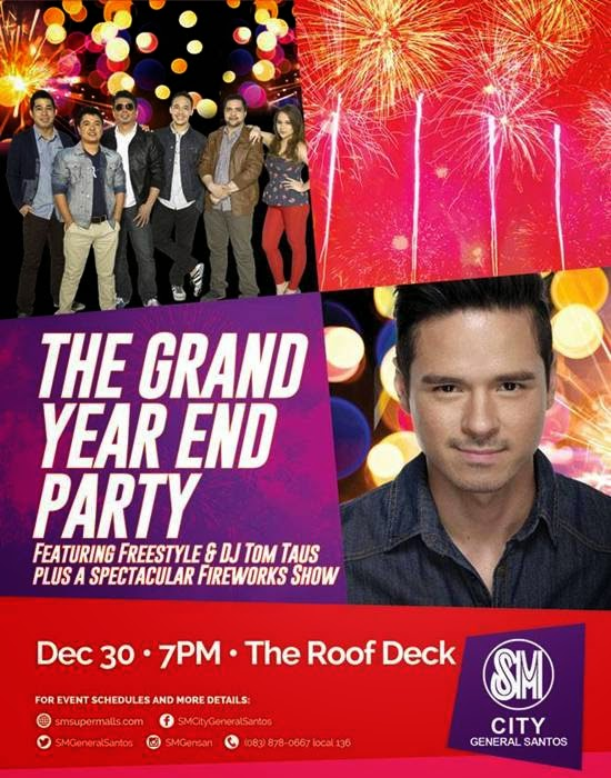 FREESTYLE BAND and DJ TOM TAUS at the Grand Year-end Party of SM City General Santos
