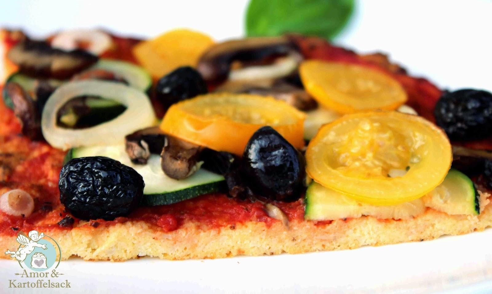 Pizza ohne Weizenmehl
