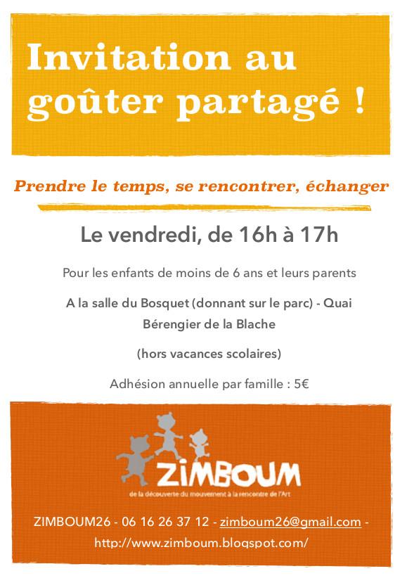 Association Zimboum: Invitation au goûter partagé