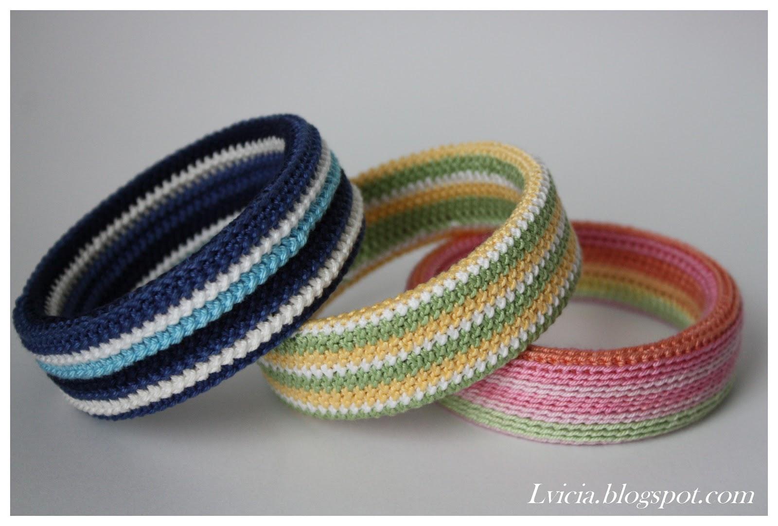 Вязания браслетов крючком