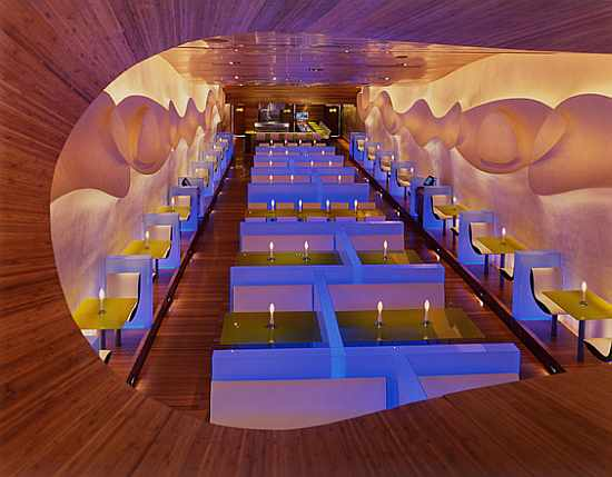 Modern Japanese Restaurant Interior Design by Karim Rashid