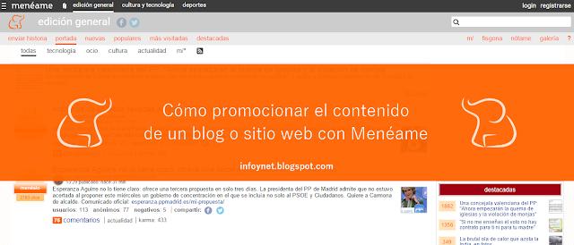 Cómo promocionar el contenido de un blog o sitio web con Menéame